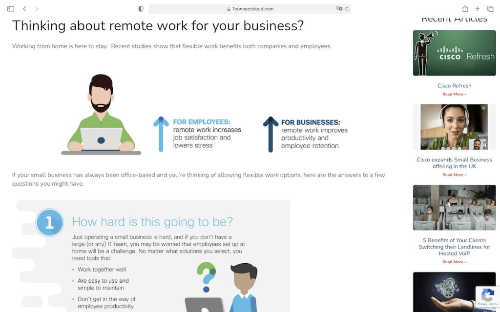 1Connect Remote Work Article