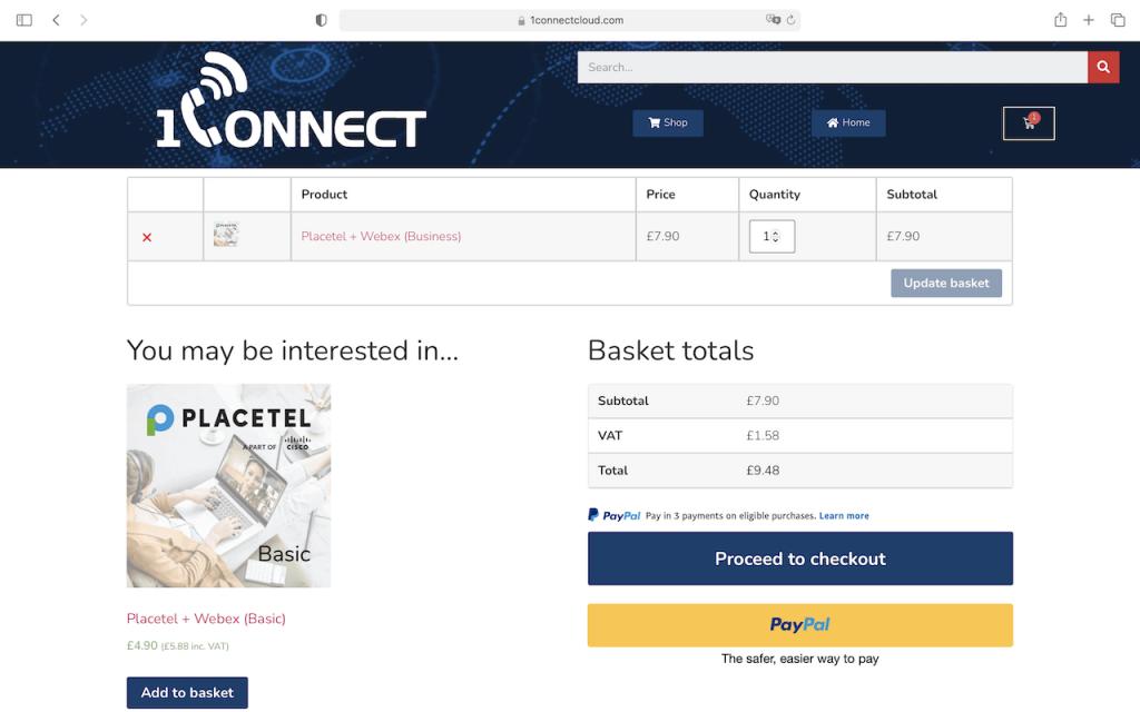 1Connect Shop - Placetel